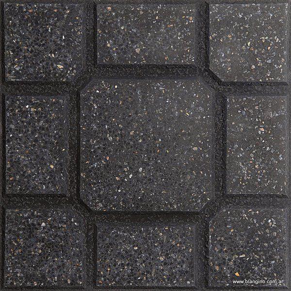 Loseta Tortuga Verde Alpes / Negro (40 x 40)