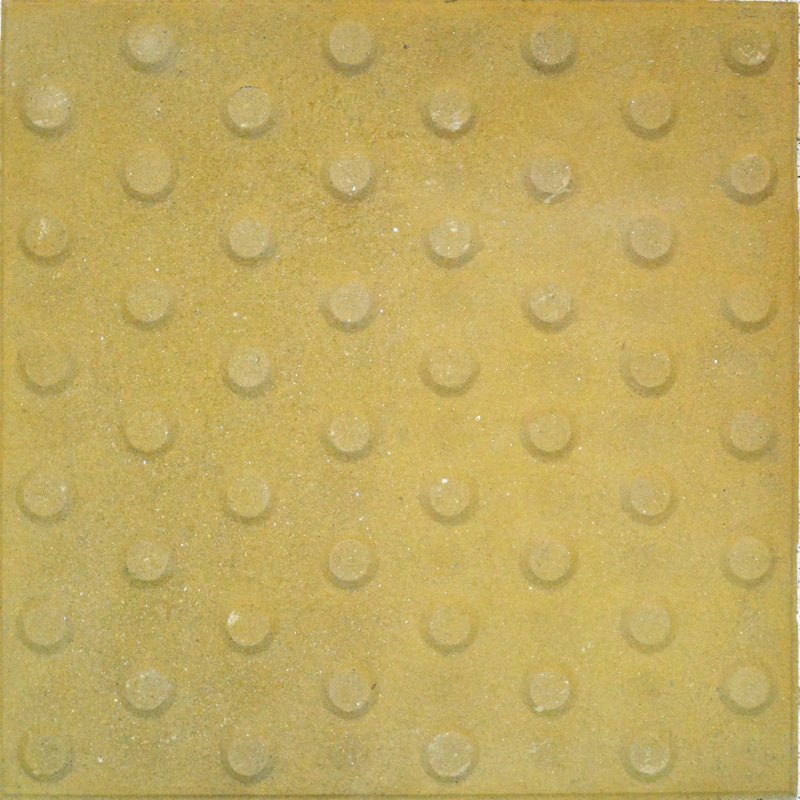 Alerta Trebolillos 40x40 Amarillo (Con cemento gris)